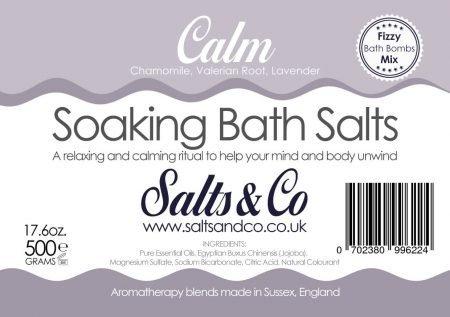 Chamomile Valerian Lavender Bath Salts