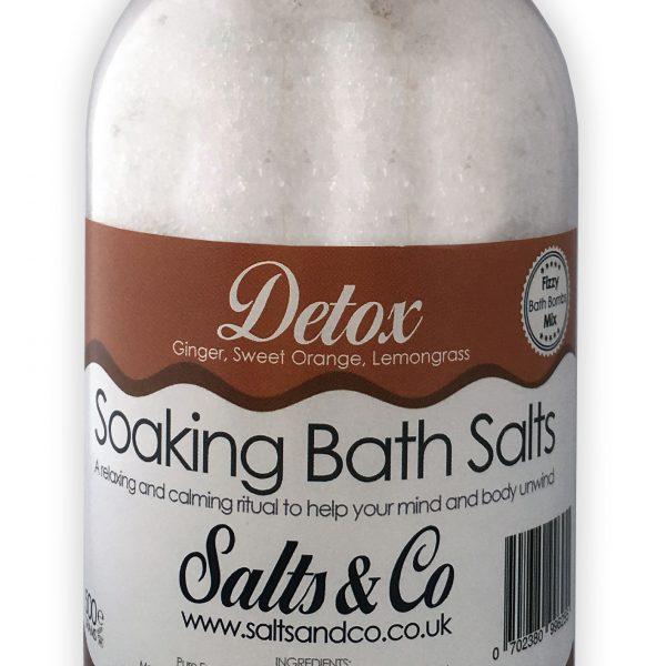 Detox Epsom Soaking Bath Salts Ginger, Sweet Orange, Lemongrass