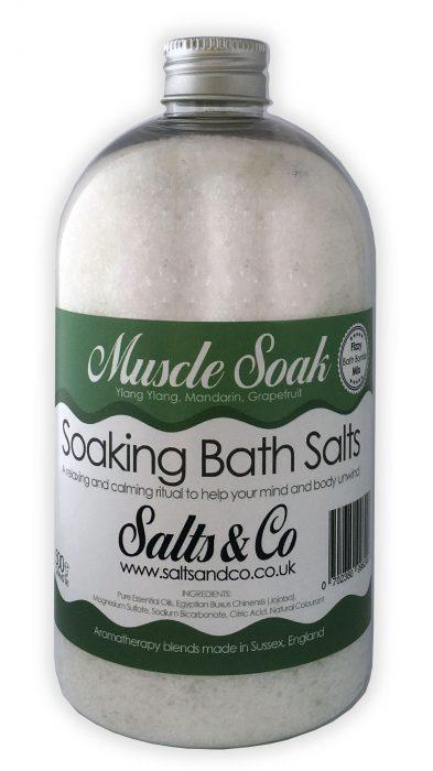 Muscle Epsom Soaking Bath Salts Ylang Ylang, Mandarin, Grapefruit