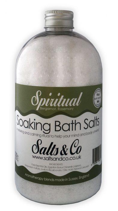 Spiritual Epsom Soaking Bath Salts Bergamot, Rosemary