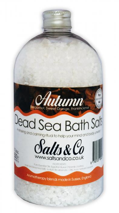 Autumn Dead Sea Salts - Bergamot, Sweet Orange & Frankincense Essential Oils