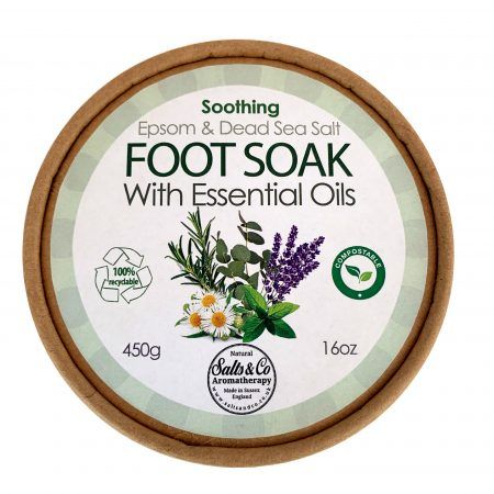Foot Soak Epsom Salt, Dead Sea Salt combined with Chamomile, Lavender, Rosemary, Peppermint, and Eucalyptus - FREE Bamboo Spoon - Ethically Sourced – 100% ECO Friendly & Recyclable